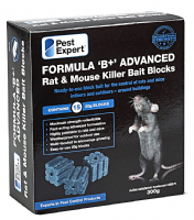 Pest Expert Formula 'B' Rat Poison Bait Blocks 300g - (Maximum Strength Brodifacoum)